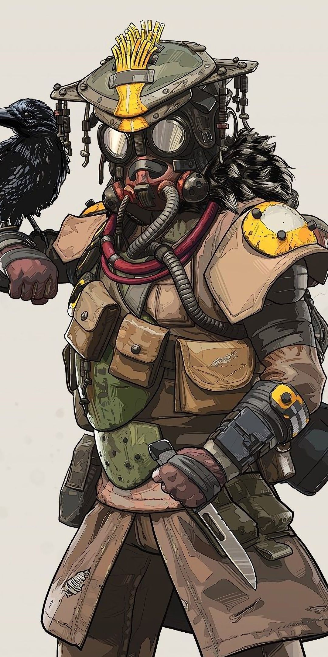 Bloodhound, Apex Legends, art, 1080x2160 wallpaper
