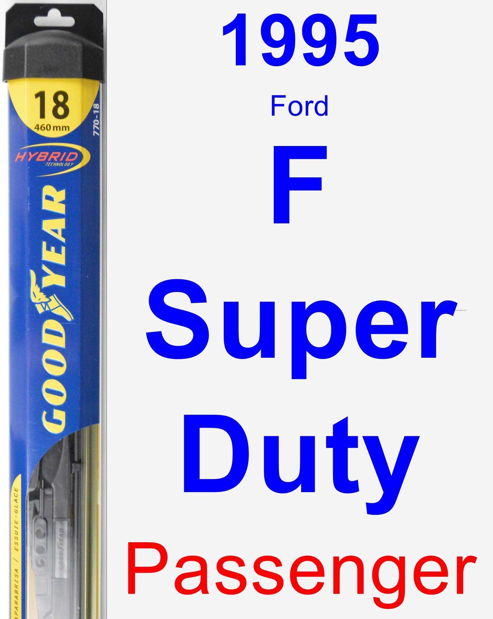 Passenger Wiper Blade for 1995 Ford F Super Duty - Hybrid
