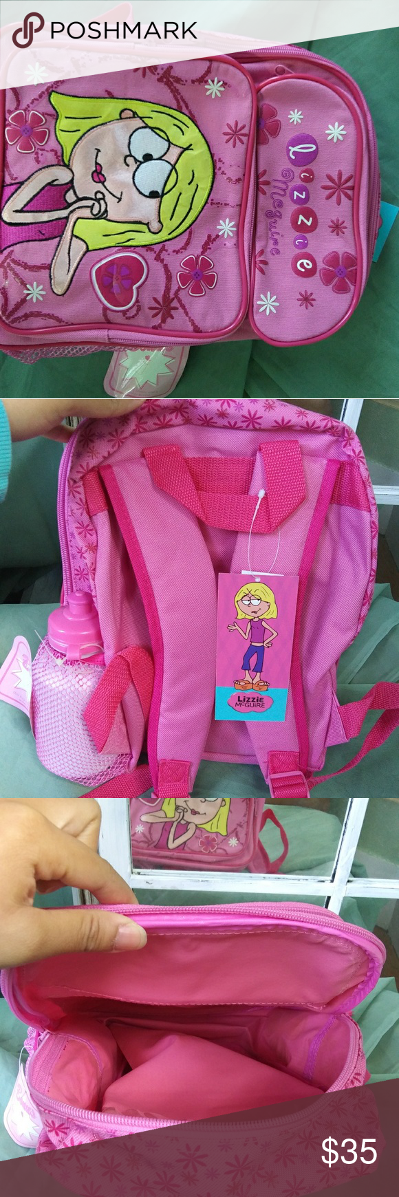Lizzie McGuire backpack Brand new y2k Lizzie McGuire backpack with tags and a water bottle. Height 12 inches  legnth 9.5 inches Width 4 inches Disney Bags Backpacks #lizziemcguire Lizzie McGuire backpack Brand new y2k Lizzie McGuire backpack with tags and a water bottle. Height 12 inches  legnth 9.5 inches Width 4 inches Disney Bags Backpacks #lizziemcguire