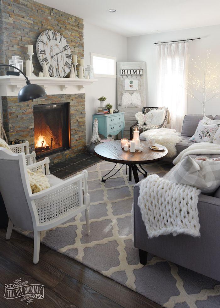 ▷ 1001 + ideen für moderne Wohnzimmer im 2018 Wohnzimmer Design - wohnzimmer dekoration grau