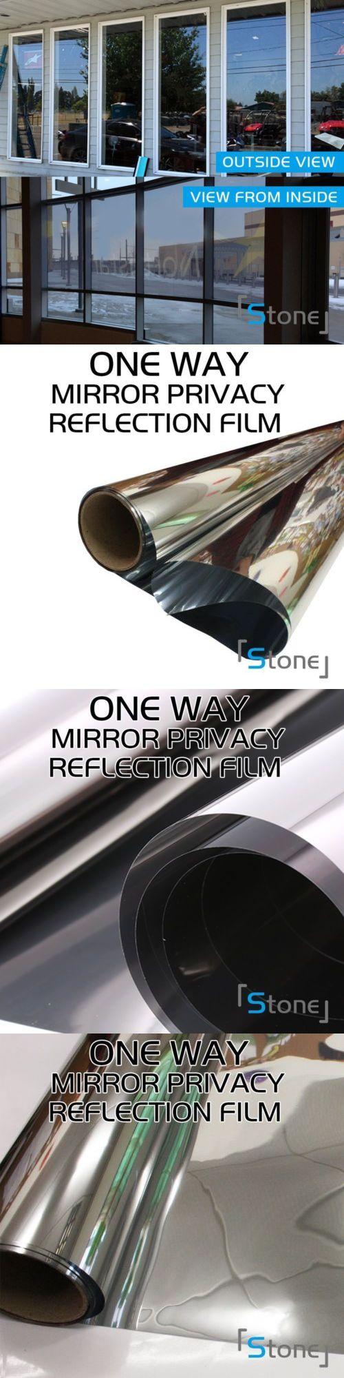 Mirror Window Tint Film One Way Privacy Static Reflective Anti Uv Kaca Oneway Premium 175757 Home Solar Buy It Now Only 8599 On Ebay