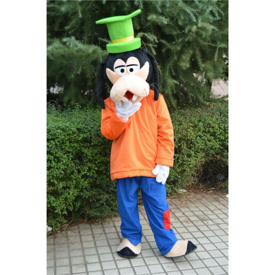 Goofy Dog Costume Mascot Parade Cartoon Cosplay Outfit New Dress Halloween Party