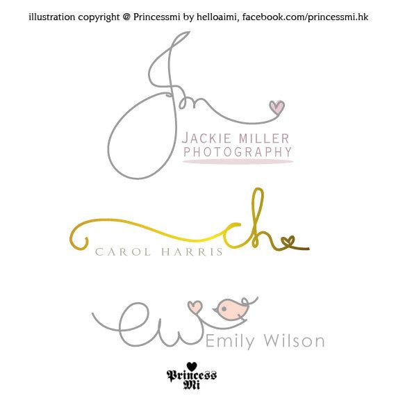 custom handwritten logo    signature design    initials by helloaimi   80 00