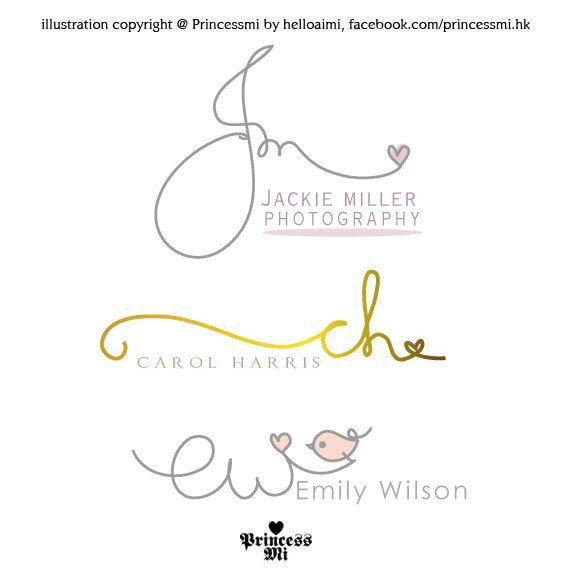 custom handwritten logo    signature design    initials by helloaimi   80 00