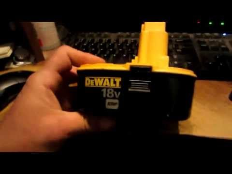 How To Bring A Dead Battery Back To Life Revive Rejuvenate Fix Rechargeable Nicd Battery Youtube Cordless Drill Batteries Dewalt Battery