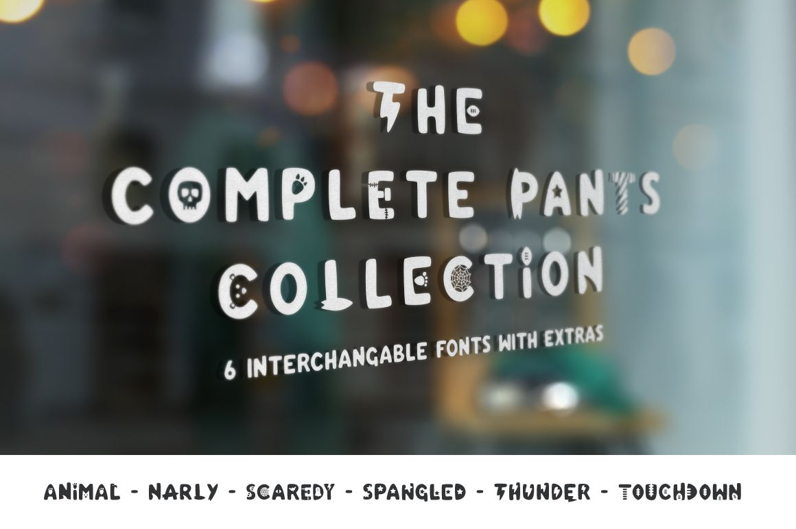 The Complete Pants Typeface http://bit.ly/2cfUypb #font typeface #type #typography #script #graphicdesign #design