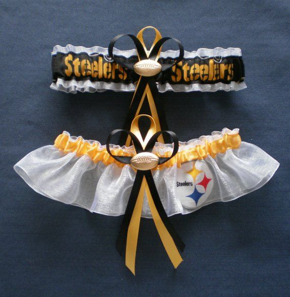 Plus Size Wedding Garters Sets: Pittsburgh Steelers PLUS SIZE Wedding Garter Set Football