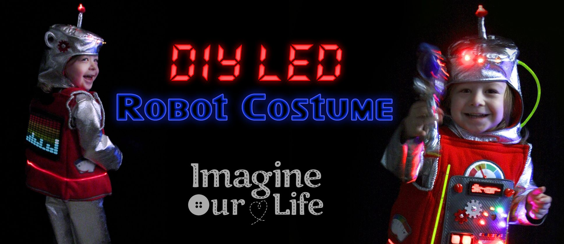Make the worlds best robot costume products i love pinterest while im sure there are more spectacular versions out there seeing jax in his homemade led robot costume rocks my world jax cant wait for halloween a solutioingenieria Gallery
