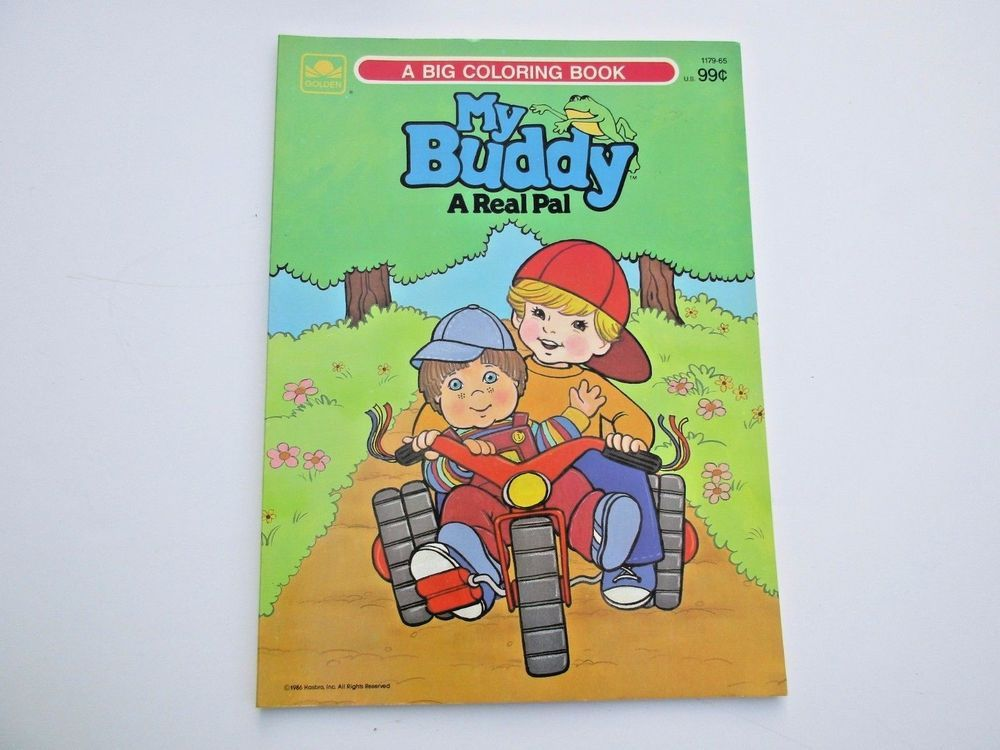 Vintage My Buddy Coloring Book Paint With Water Unused 1980s Coloring Books My Buddy Color