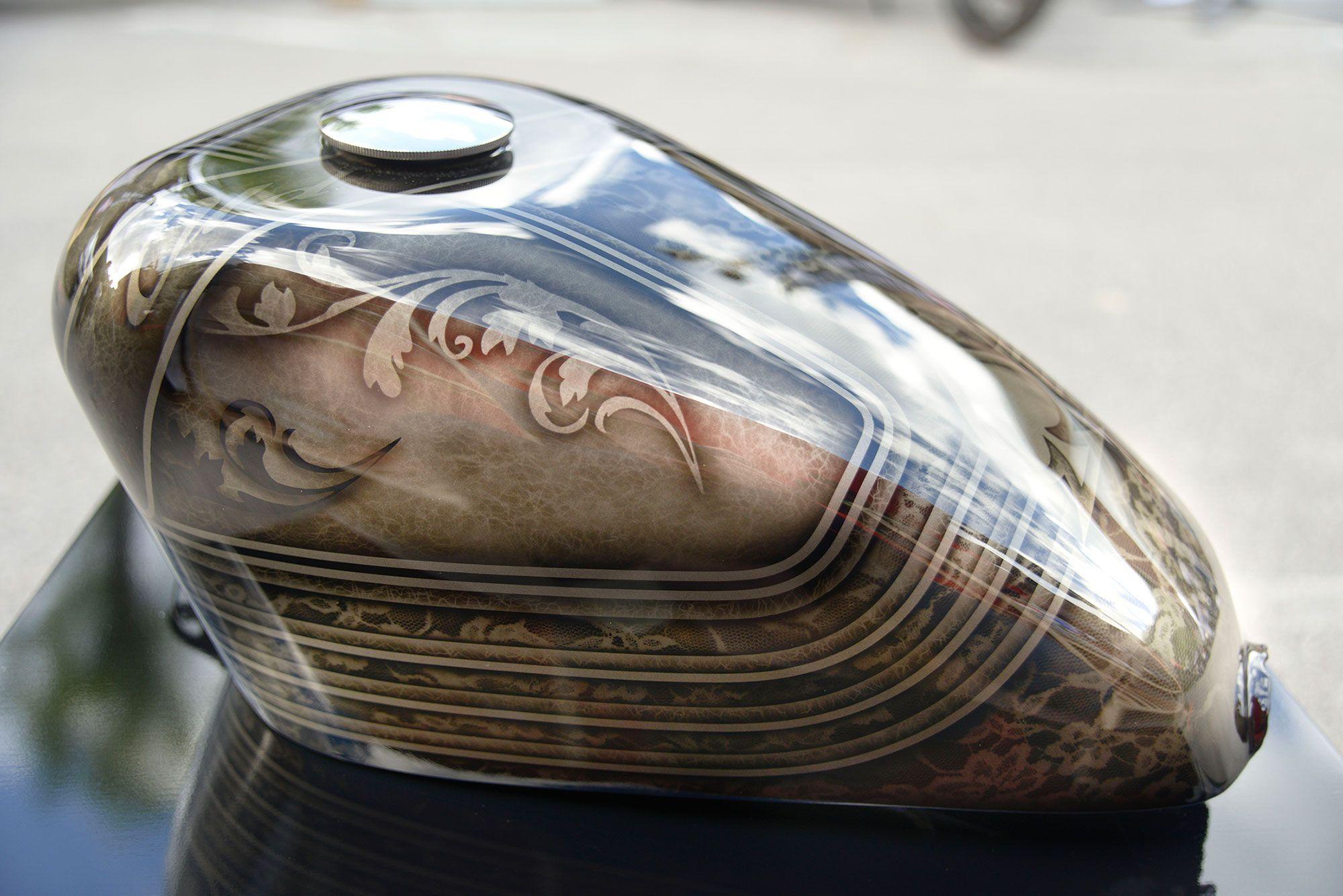 Harley Davidson Et Customs Oeuvre D Art Reservoir