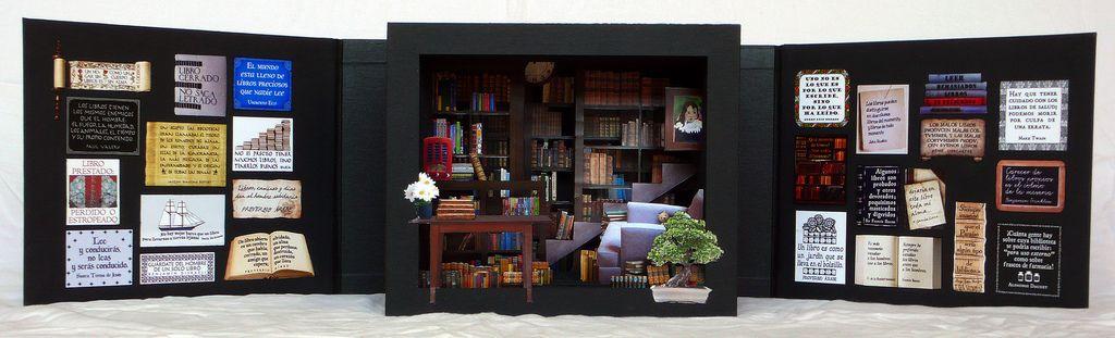 Armario: libro túnel / tunnel book | Vista frontal completa / front view