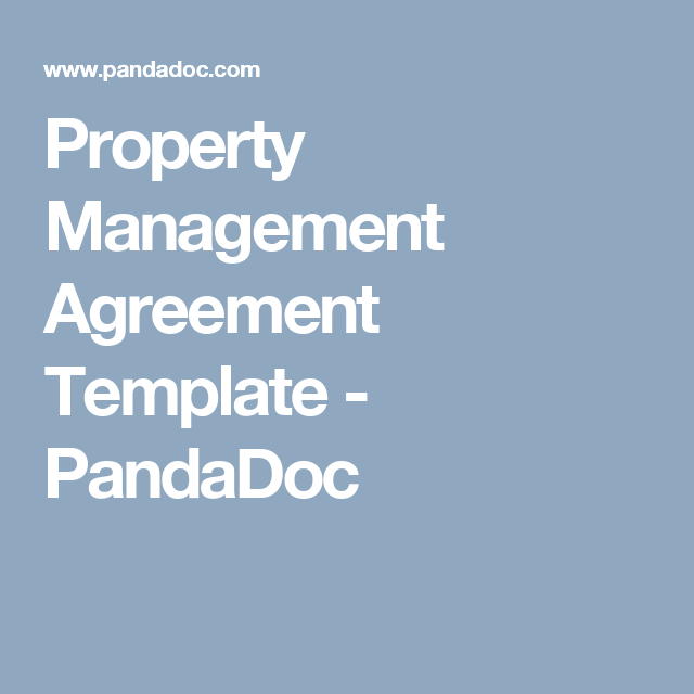 Property Management Agreement Template  Pandadoc  Property