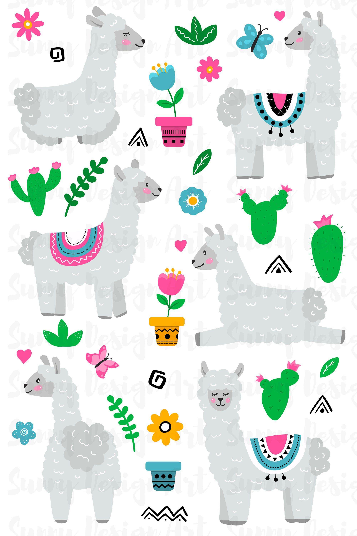 Llama Vector Llama Clipart Hand Drawn Llama Llama Alpaca Etsy How To Draw Hands Clip Art Llama Clipart