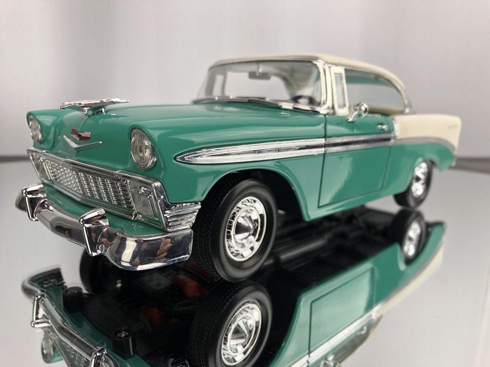 Road Tough 1956 Chevrolet Bel Air Turquoise 1 18 Scale Cast Clic Car Roadsignature Belair Chevybelair Cliccars