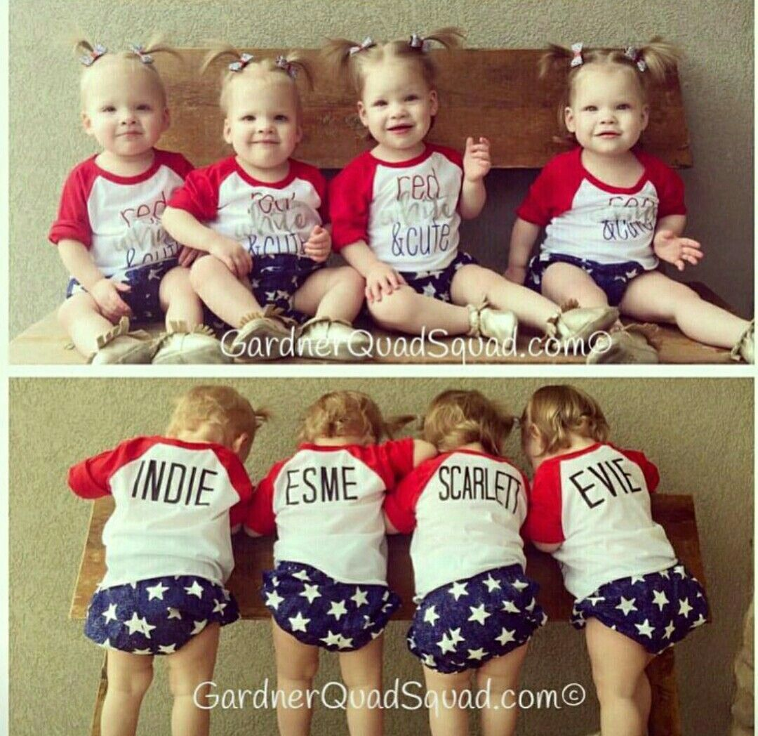 Indie, Esme, Scarlett & Evie | Gardner Quad Squad- Gardner Family
