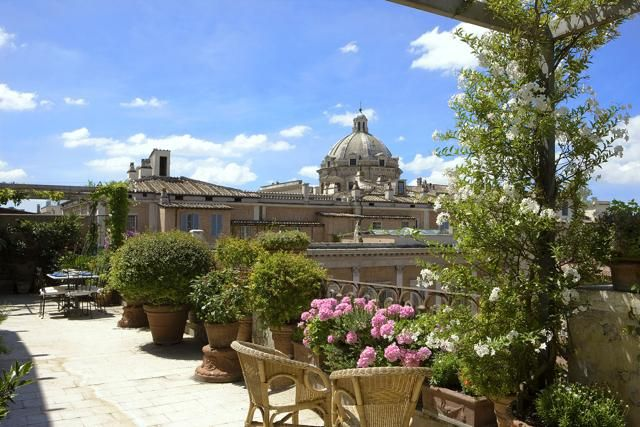 Toit Terrasse Rome Magnificent Roof-top 'terrazza' In Rome | Interiors