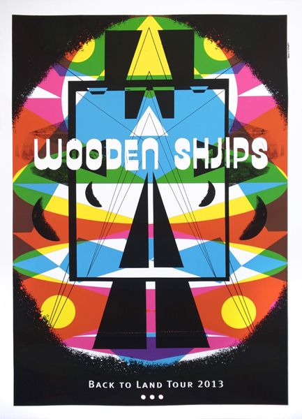 Gigposterscom Wooden Shjips Design Posters Tour Posters