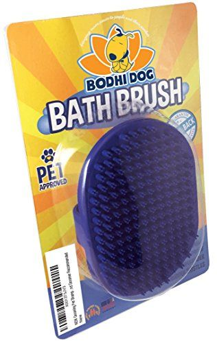 NEW Grooming Pet Shampoo BrushSoothing Massage Rubber Bristles Curry Comb ...