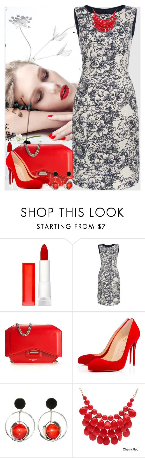 """Bez naslova #2875"" by gita016 ❤ liked on Polyvore featuring Maybelline, Hobbs, Givenchy, Christian Louboutin, Marni, Alexa Starr, women's clothing, women, female and woman"
