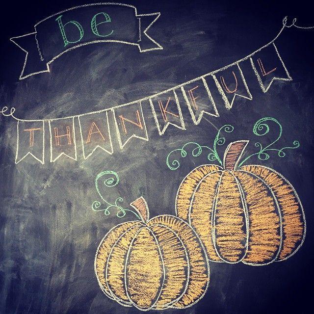 Thanksgiving chalkboard art #fall #chalkboard #art #thanksgiving #pumpkins #chalk #bethankful