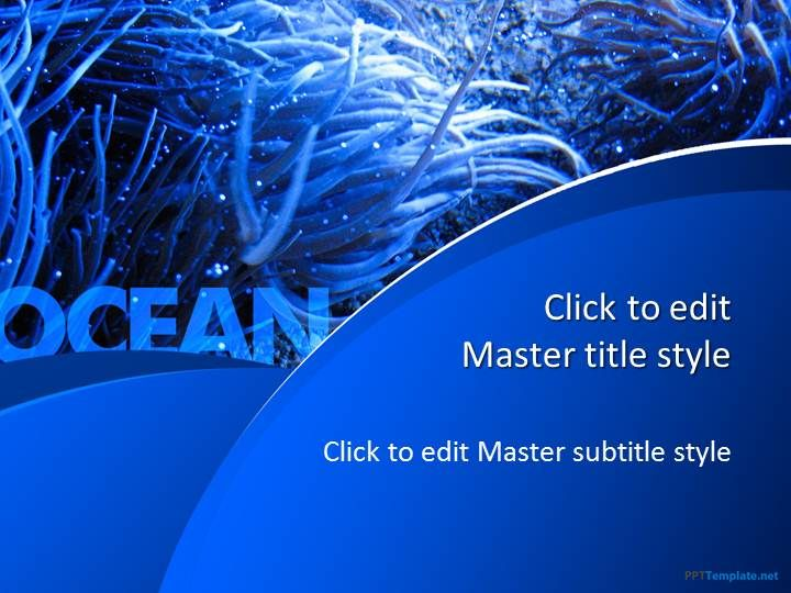 Free Blue Ocean Ppt Template  Music Ppt Templates
