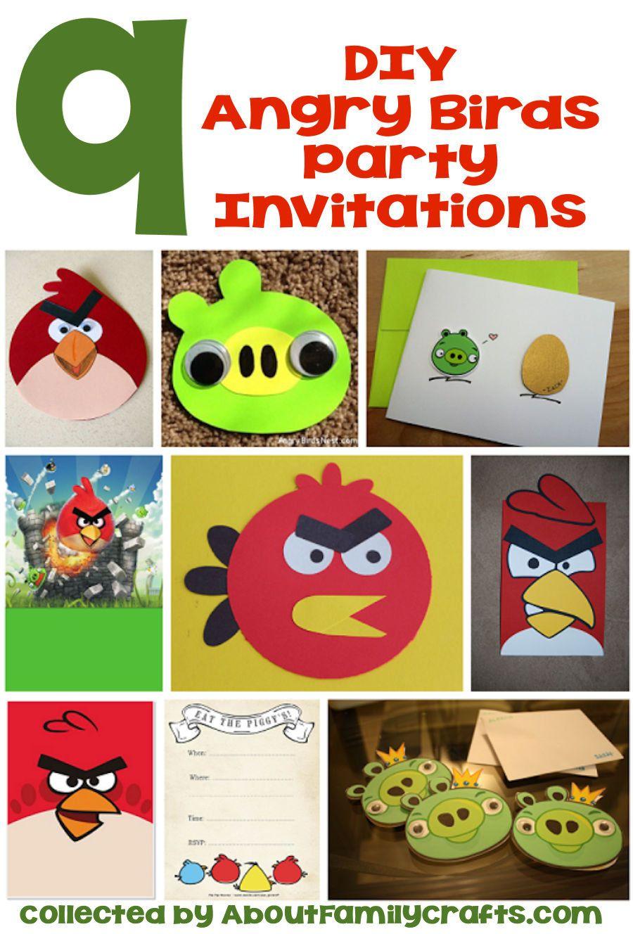 DIY Angry Birds Party Invitations | Stuff to Buy | Pinterest | Bird ...