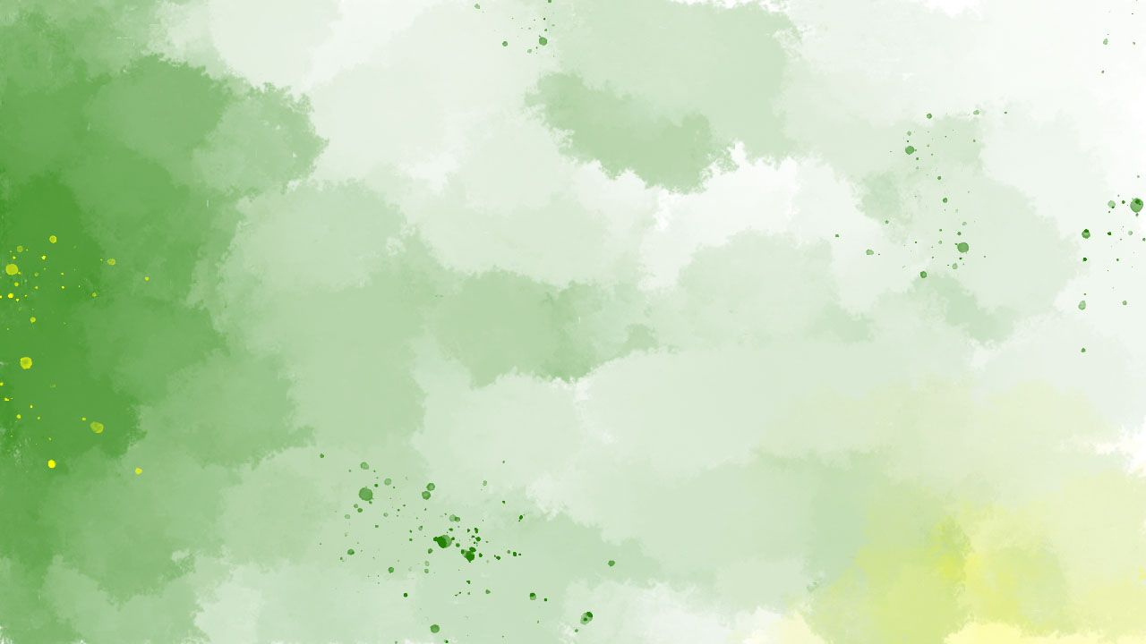 Watercolor Gradient Green Ppt Background In 2020 Watercolor