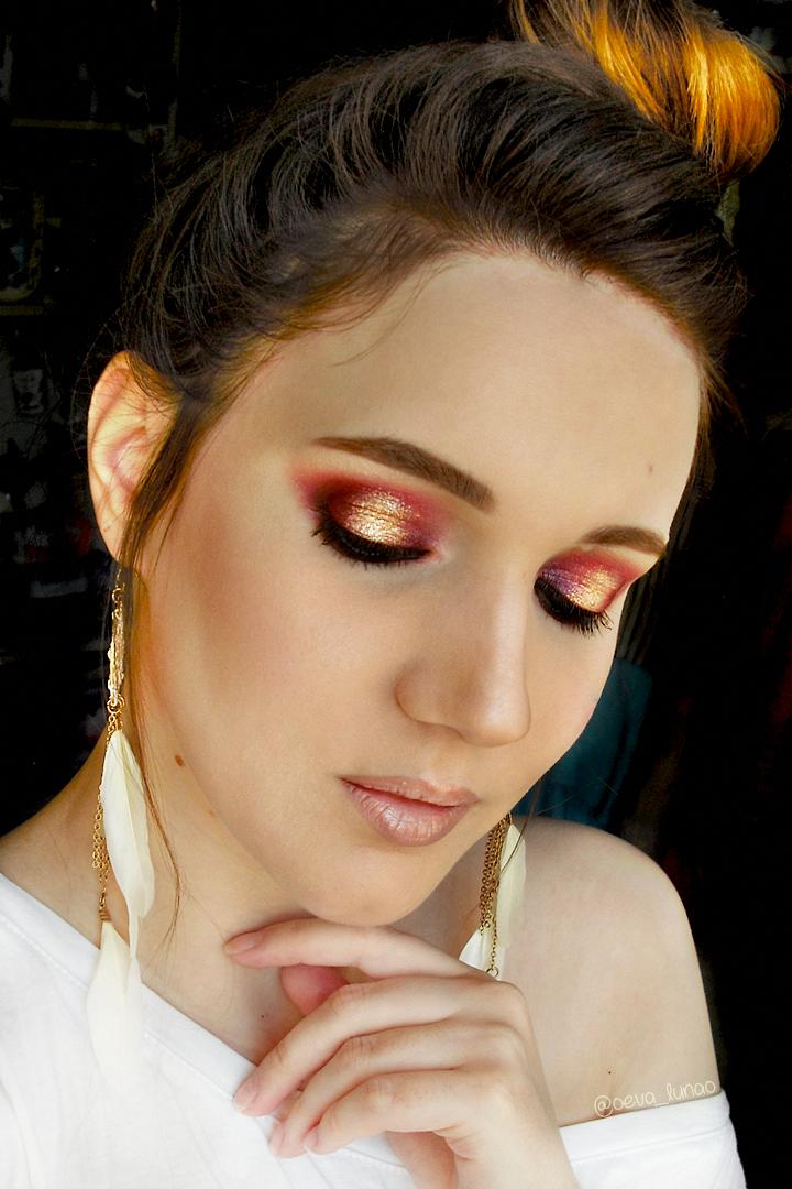 Makeup Revolution Soph eyeshadow palette makeup look