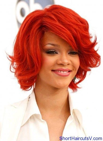 Rihanna Short Hairstyles Popular Haircuts Rihanna Short Hair Hair Styles Rihanna Red Hair