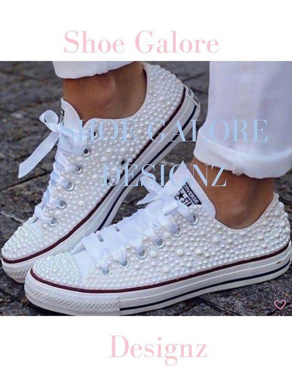 Wedding Converse sneakers, Bridal Trainers, Bride