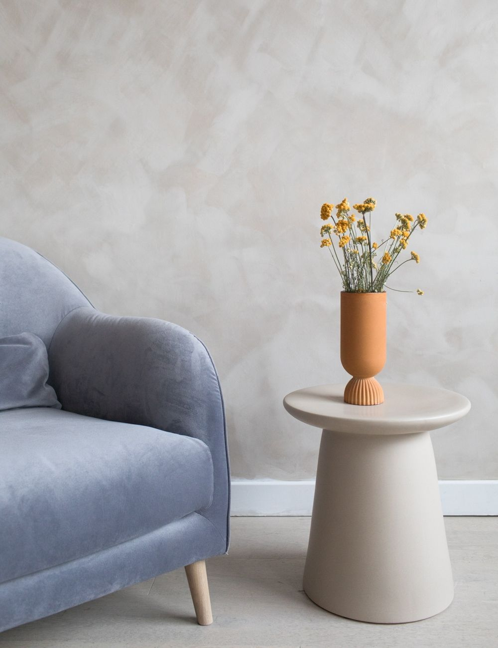 Minimal Stone Side Table Side Table Retro Side Table Stylish Side Table [ 1300 x 1000 Pixel ]
