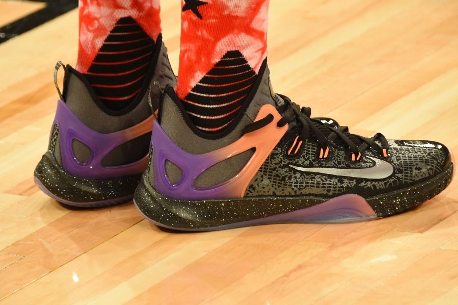 DeMarcus Cousins wearing Nike HyperRev 2015 All-Star Practice (2)