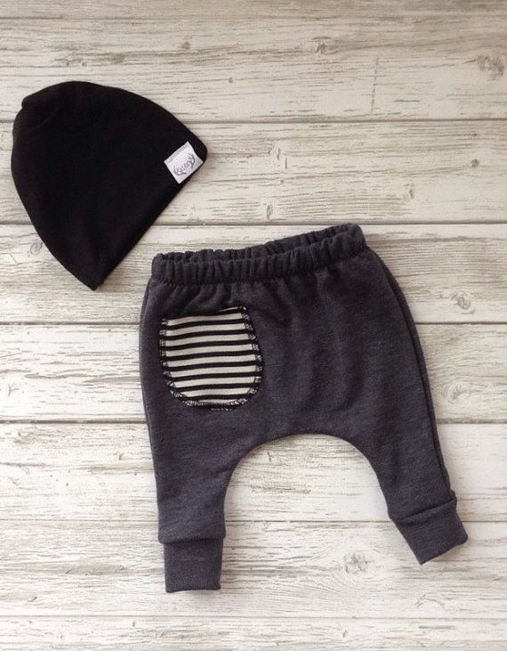 Baby harem pants baby sweatpants baby joggers by EatSleepDrool