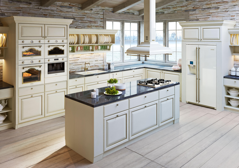 Kücheneinrichtung mit smeg hausgeräten im cortina design mehr
