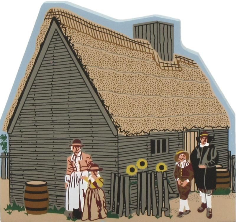 Cat's Meow replica of Francis Cooke's Home, Plimoth