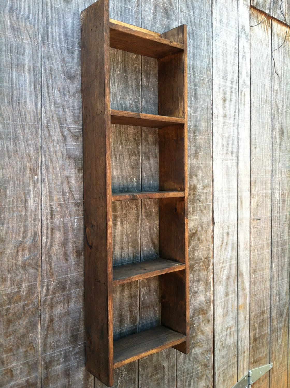 Wooden towel Shelf - Stand along or wall mounted bathroom shelf ...