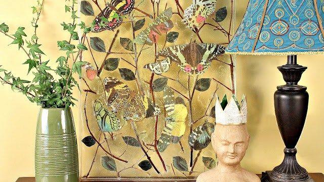DIY Resin Butterfly/Twig Art Piece #twigart