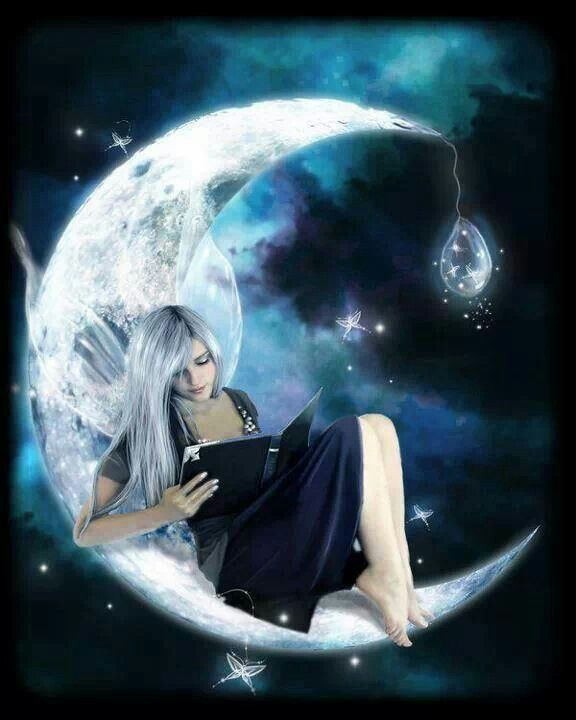 Reading on top of the moon