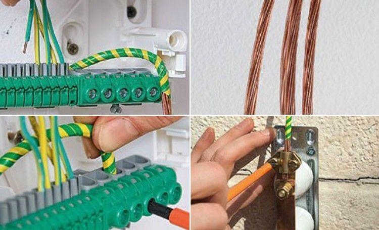 Réaliser la mise à la terre du0027un tableau électrique Construction - realiser son installation electrique maison