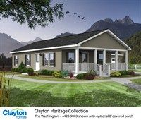 The Washington 4428 9003 52 000 75 000 1188 Sq Ft 3 Beds 2 Baths Mobile Home Exteriors Clayton Homes Modular Home Prices