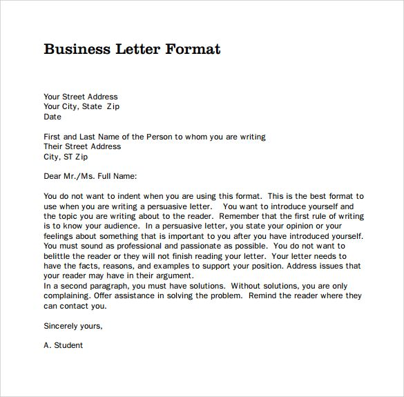 Mla Personal Letter Format from i.pinimg.com