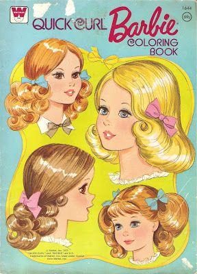 Miss Missy Paper Dolls: Quick Curl Barbie