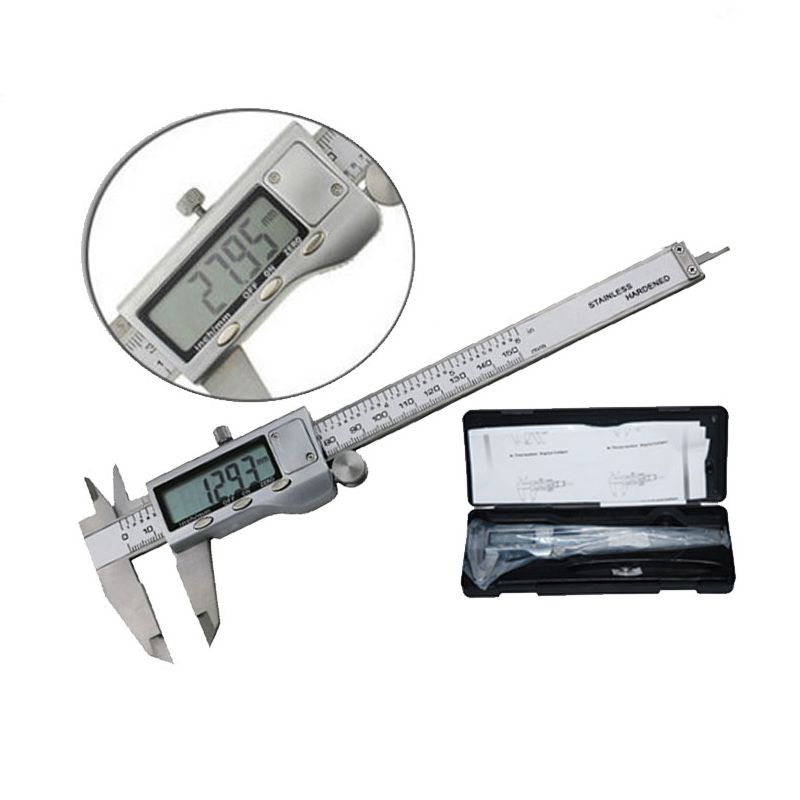 """6/"""" 150mm Stainless Steel Electronic Digital Vernier Caliper Micrometer Guage LCD"""