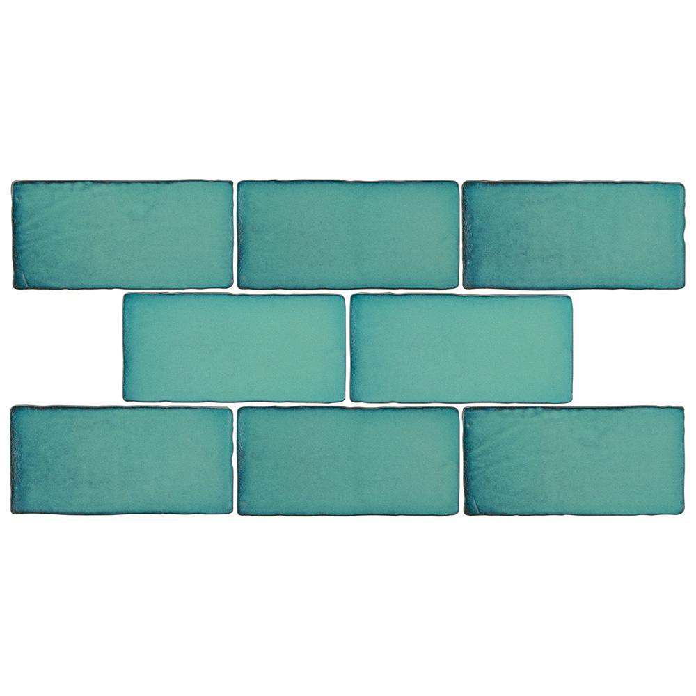 Merola Tile Antic Special Lava Verde 3 In X 6 In Ceramic Wall