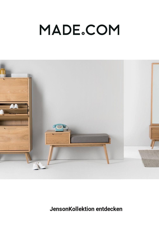 Made Sitzbank Mit Stauraum Helles Holz In 2020 Home Decor