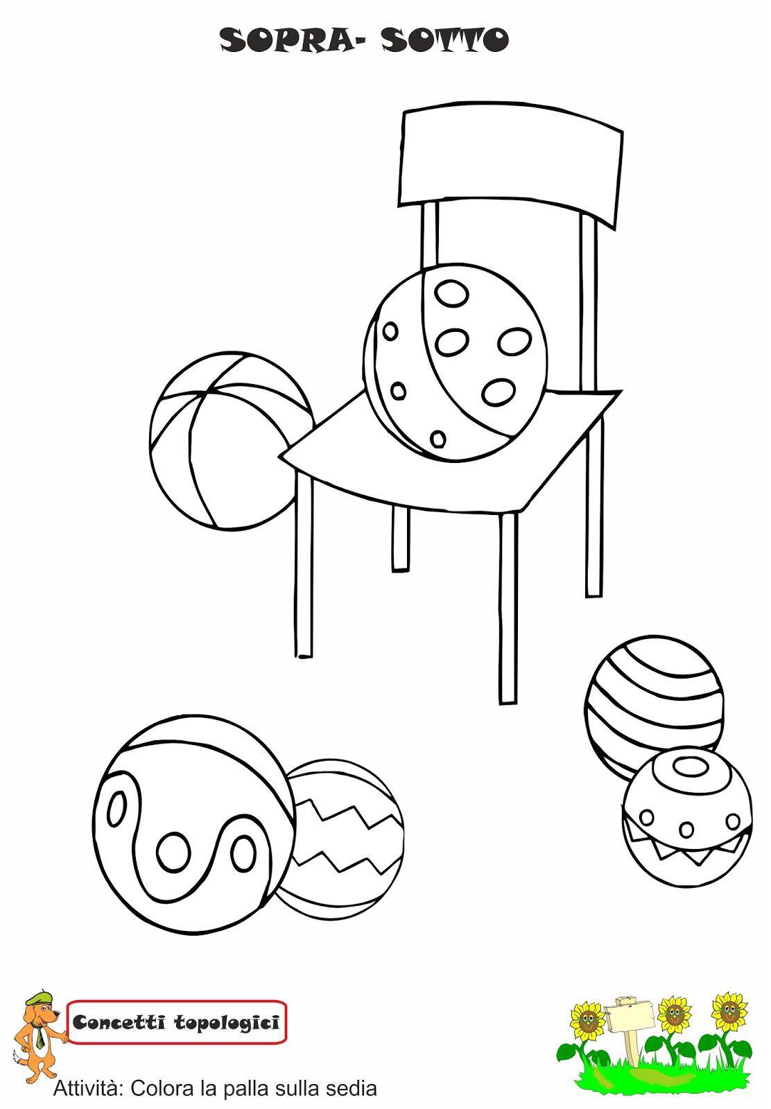 Sopra e sotto concetti topologici for Schede didattiche autismo