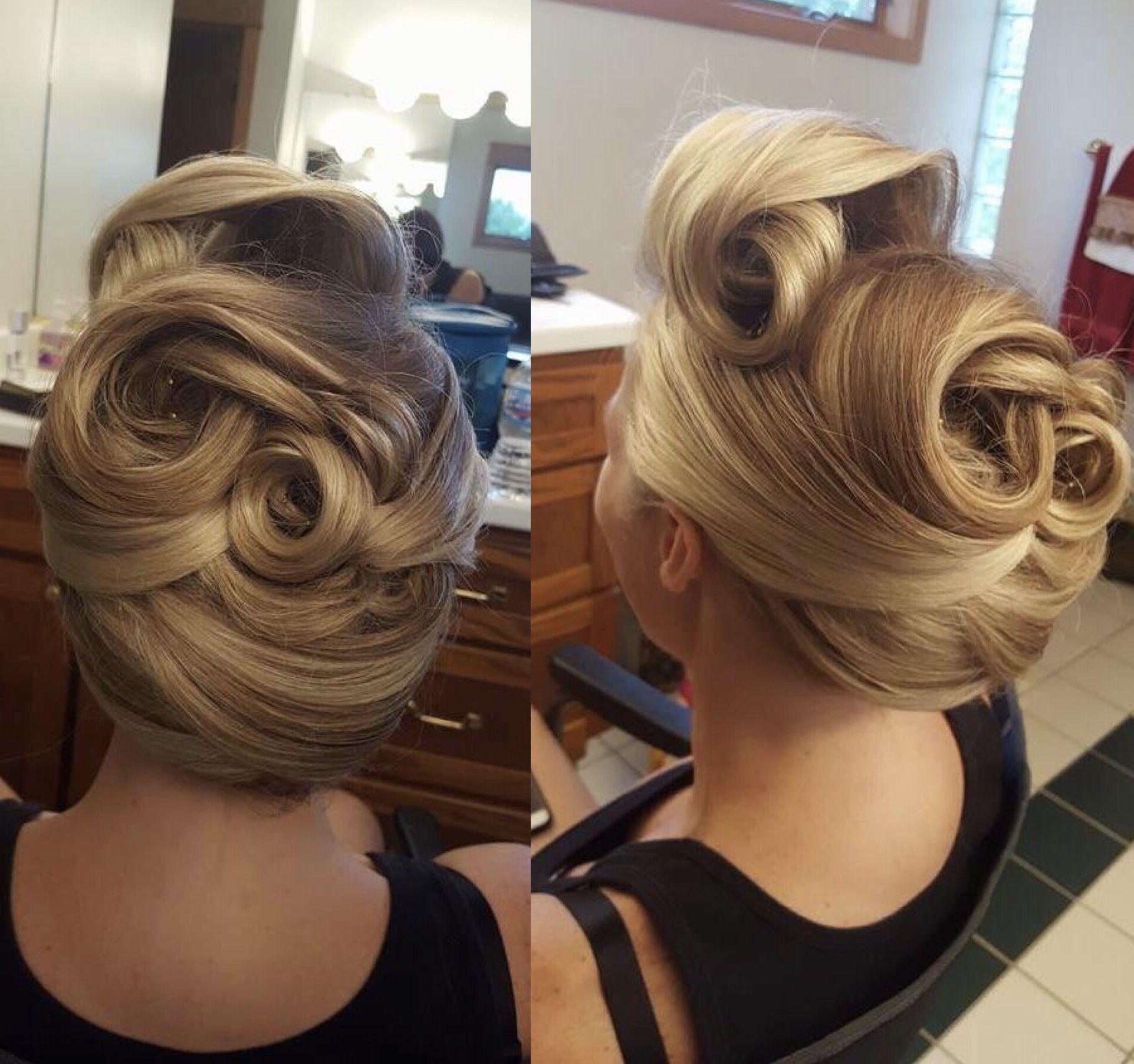 Rockabilly Wedding Ideas: Rockabilly Wedding Hair For My Fun Bride. She Looked