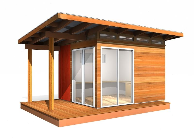 10 x 12 Coastal ModernShed 120 SqFt Prefab Shed Kit provided