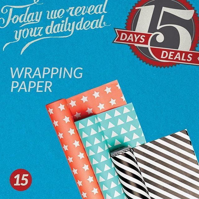 Get your Custom Wrapping Paper Today 12/5 and get 25 Free single sided business cards!