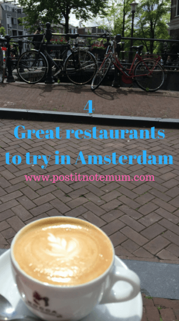 4 Great restaurants to try in Amsterdam